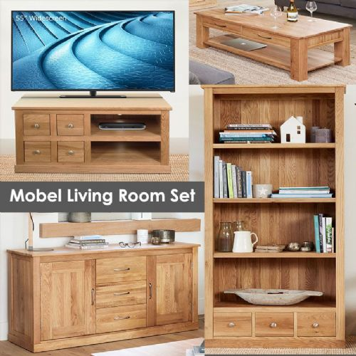 Mobel Oak Living Room Set
